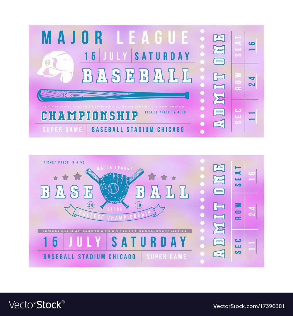 Ausgezeichnet Baseball Ticket Vorlage Ideen ...