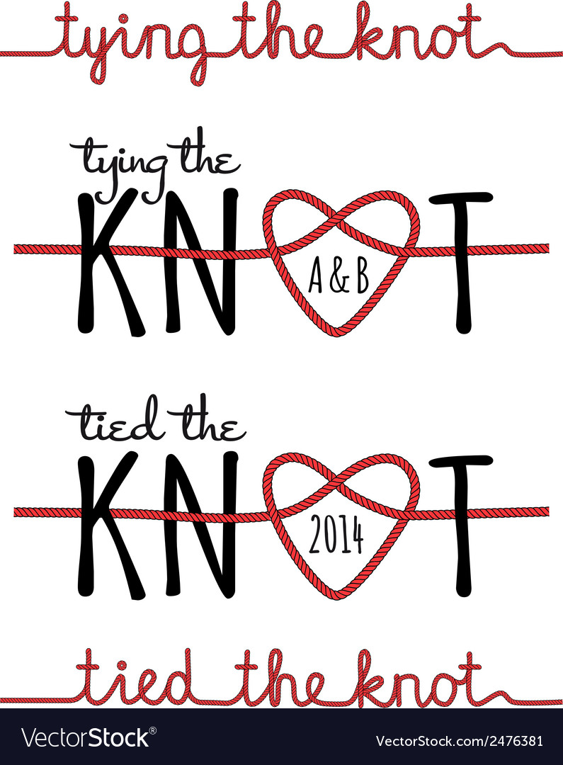 Tying the knot set vector image