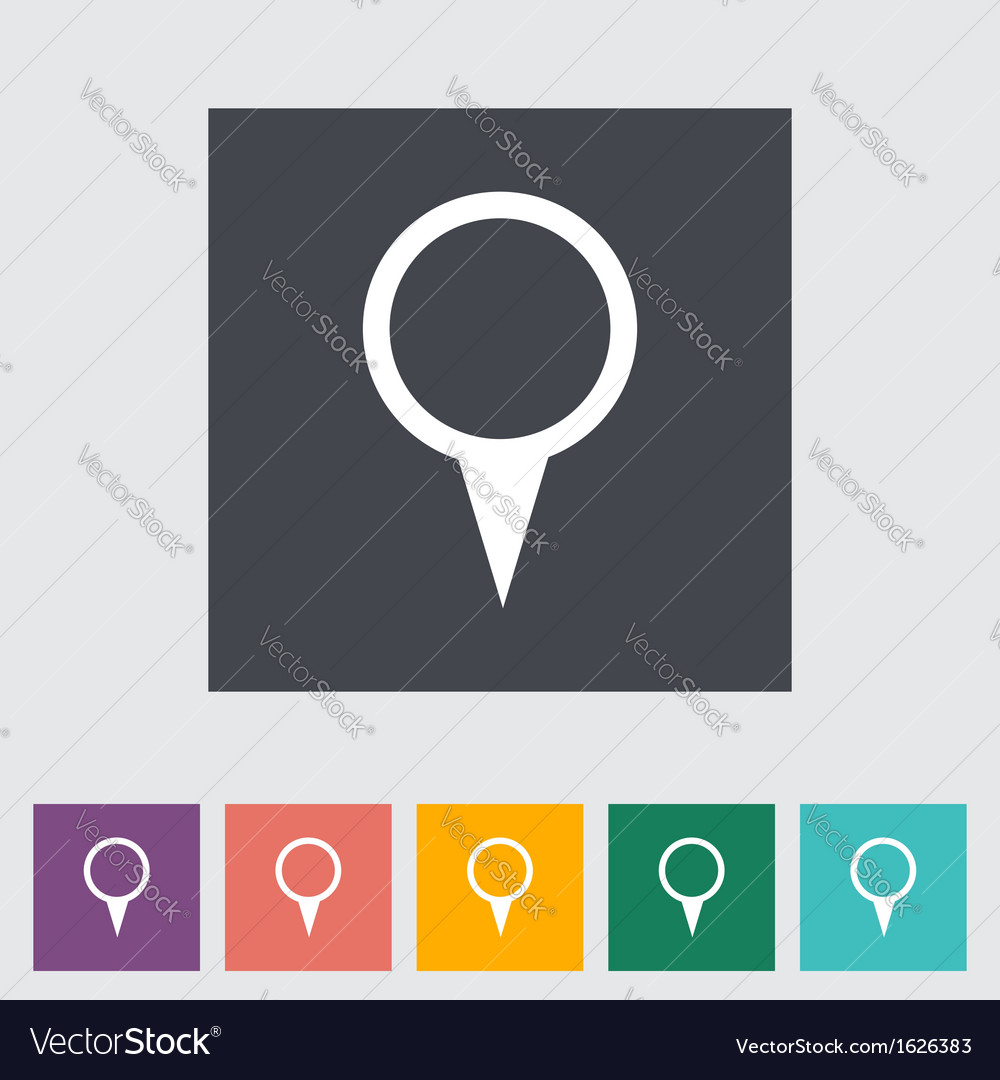 Pin icon vector image