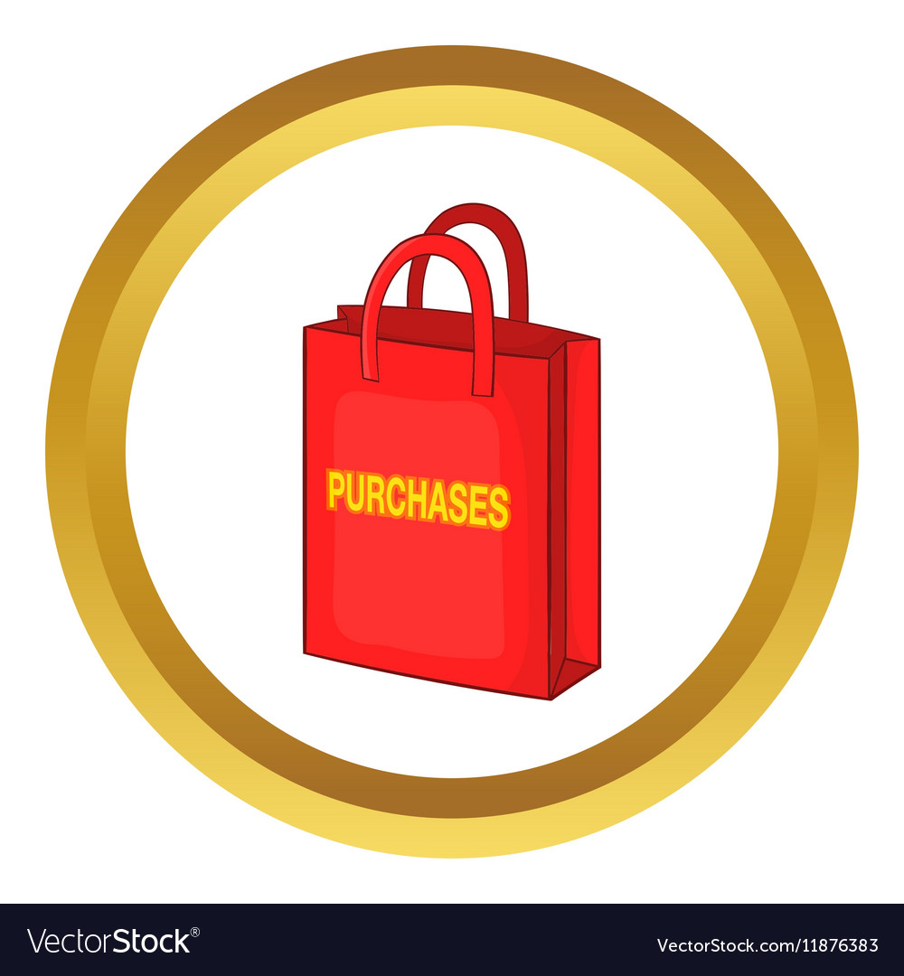 Red bag for shopping icon vector image