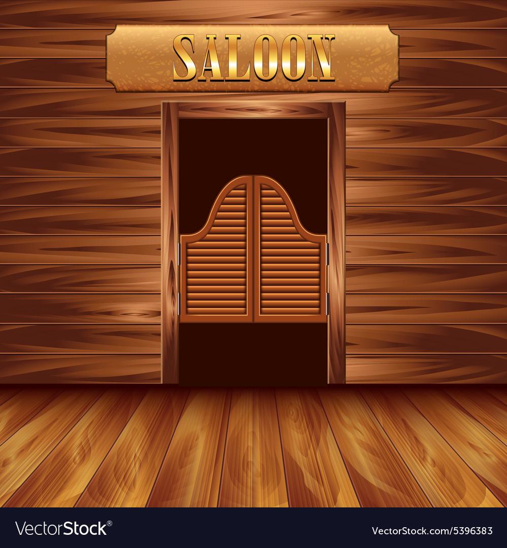& Swinging doors of saloon western background Vector Image