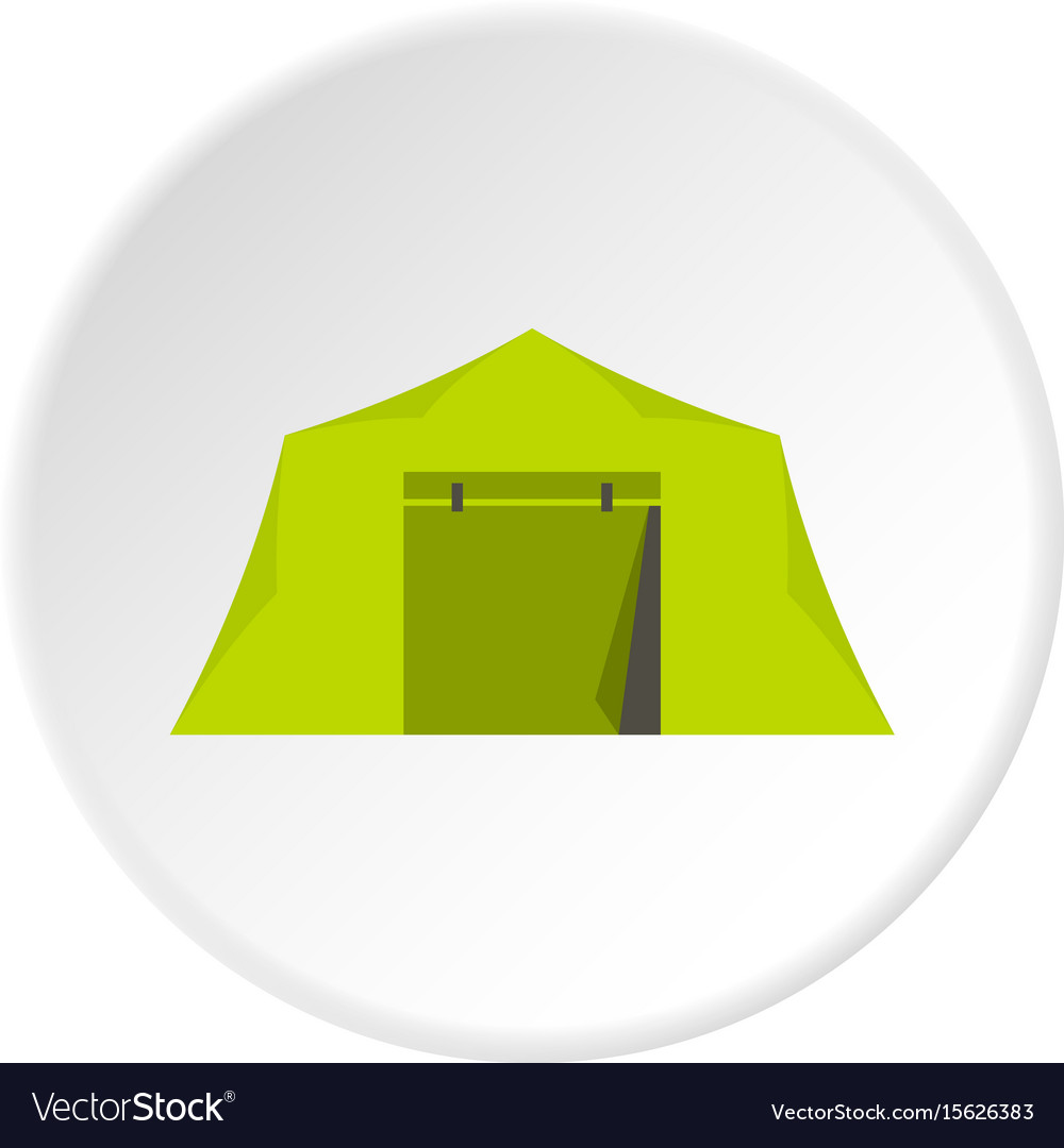 Tent icon circle vector image
