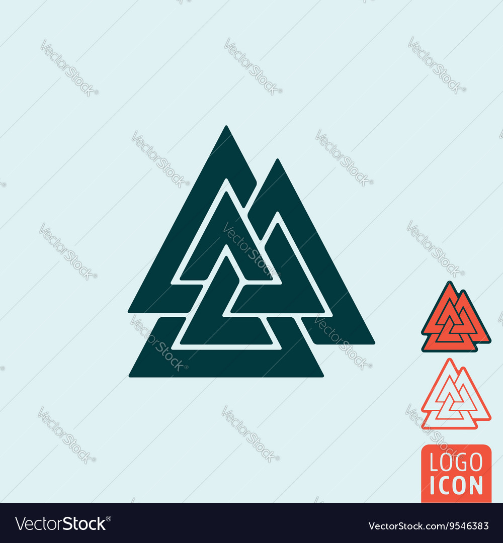 Valknut icon isolated vector image