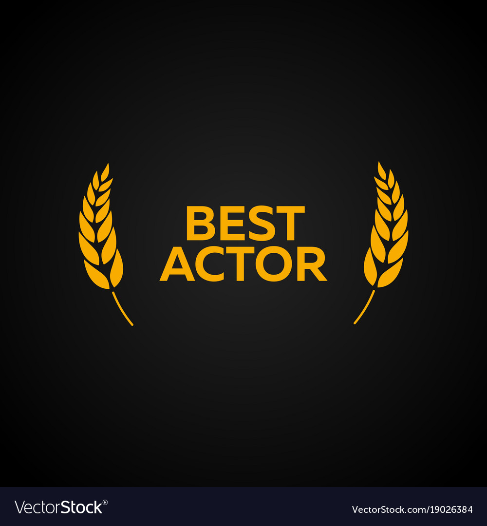 Best actor laurel film awards winners film vector image