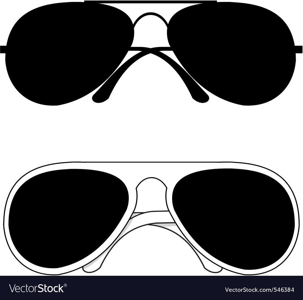 Classical sunglasses vector image