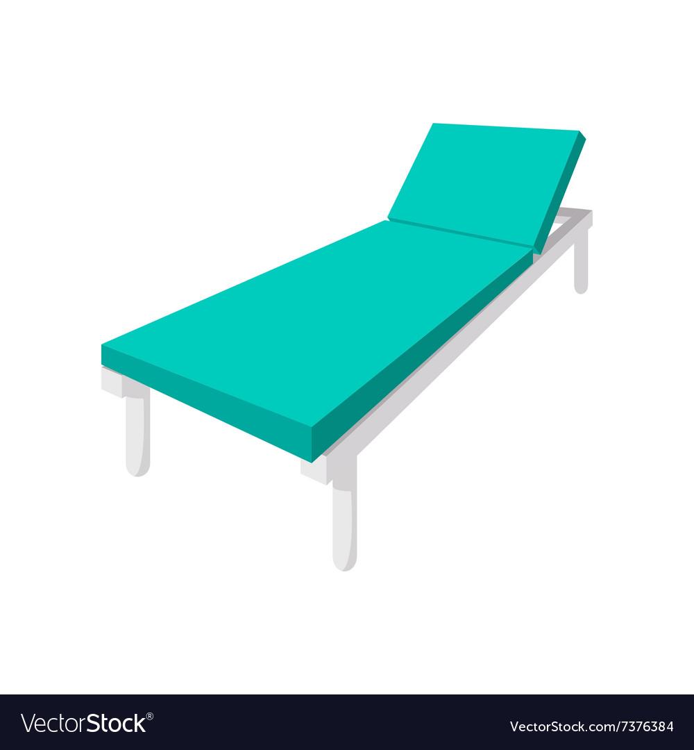 Hospital bed cartoon icon vector image