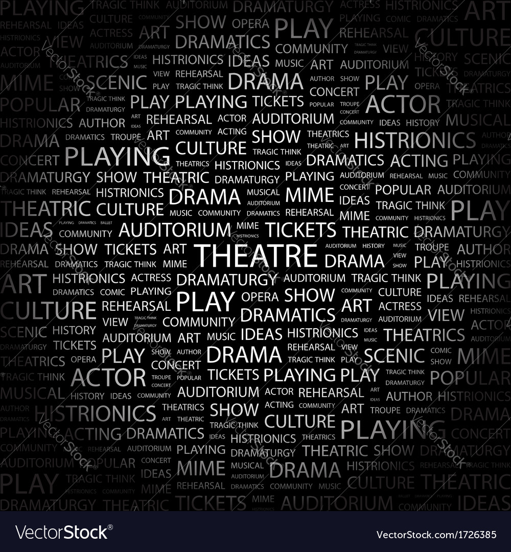 THEATRE Vector Image