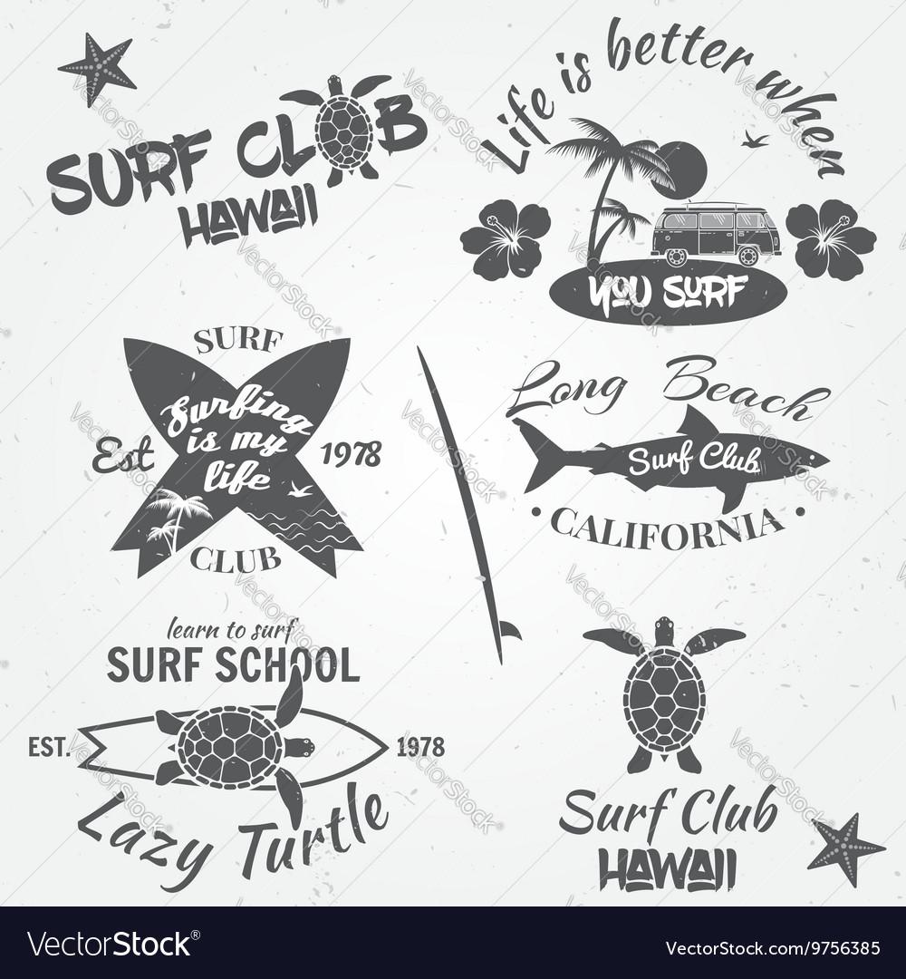 Set of retro vintage badges and labels Vintage vector image