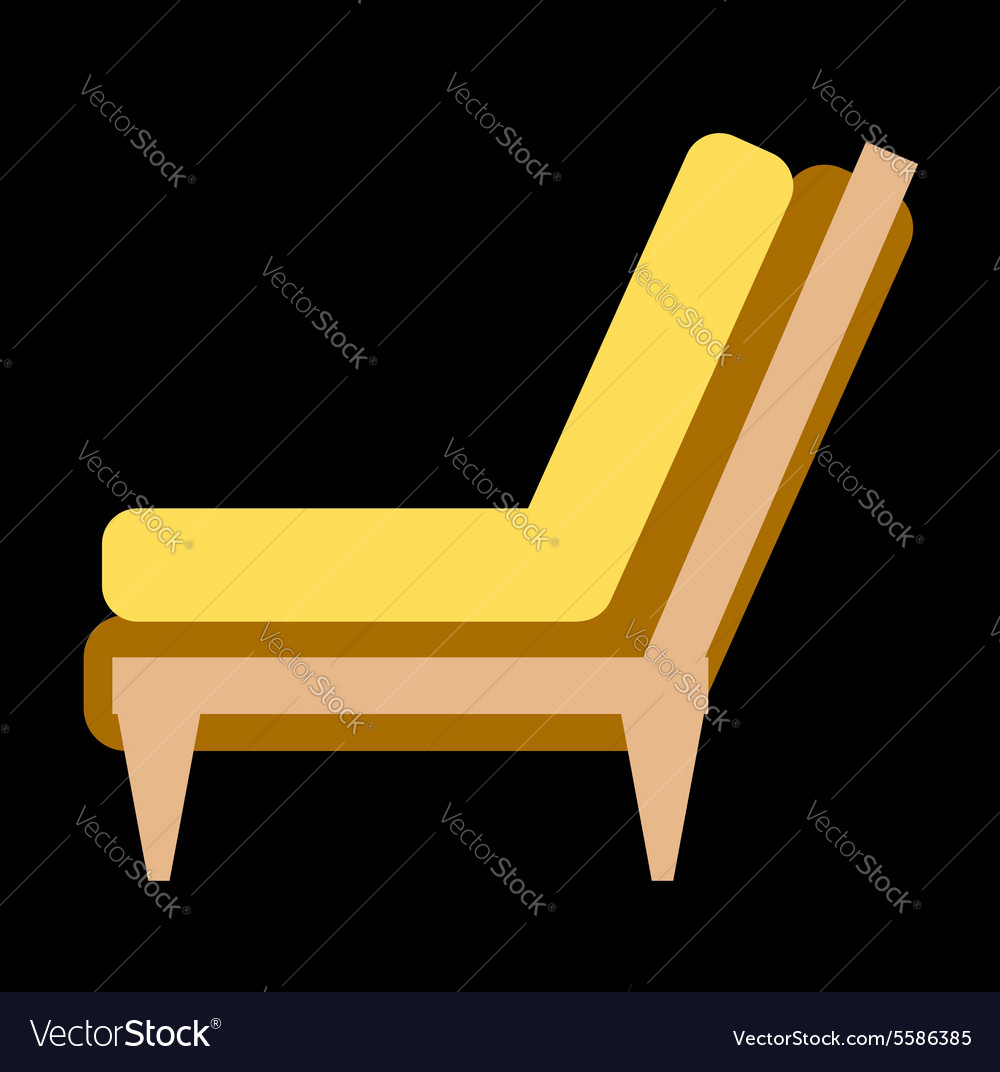 Side View Of Home Or Office Furniture Sofa Vector Image