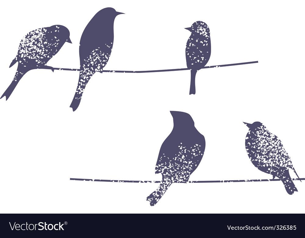 Wire birds vector image