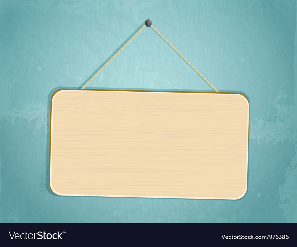 Hanging sign vector image