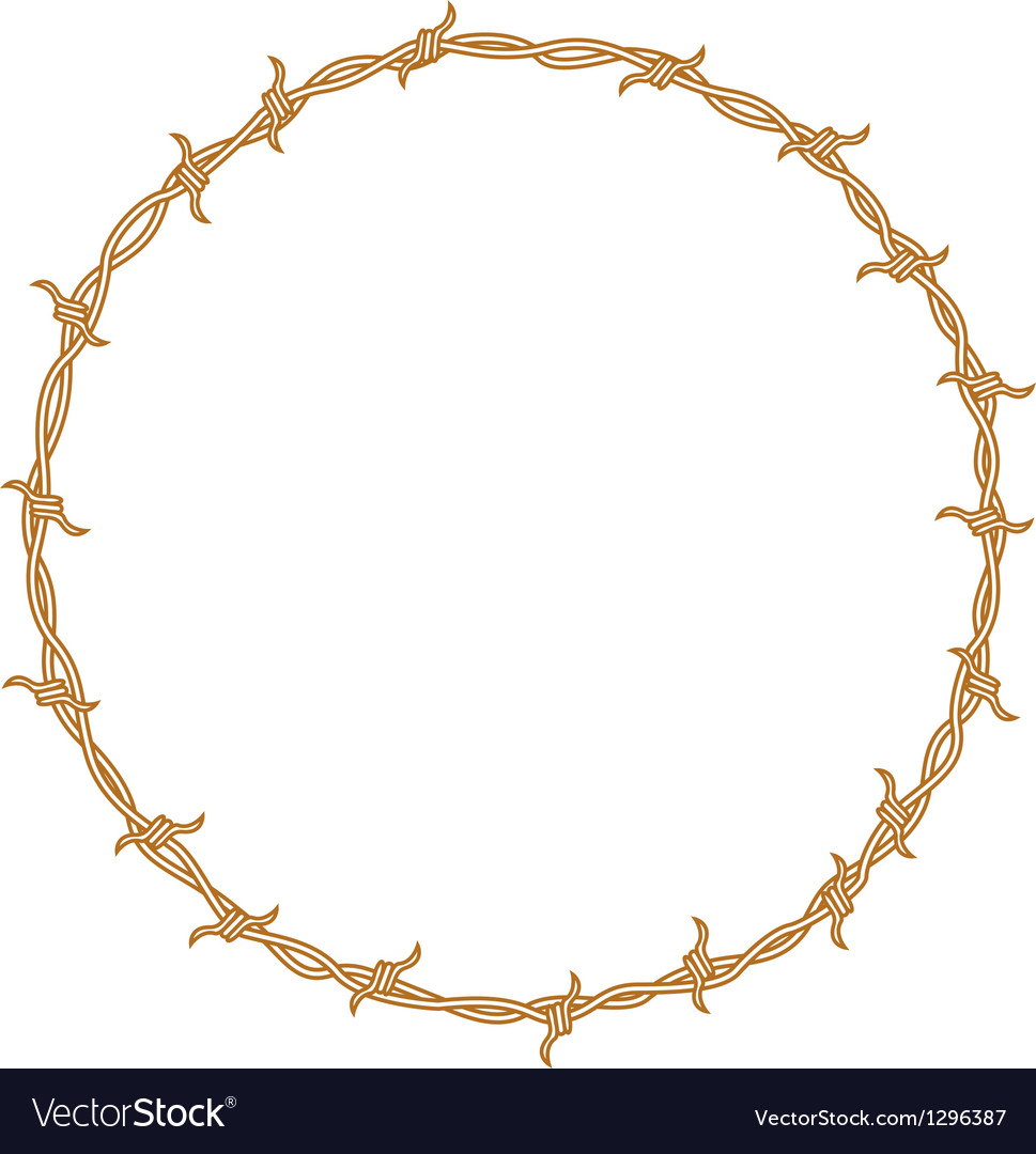 Barbed wire border vector image