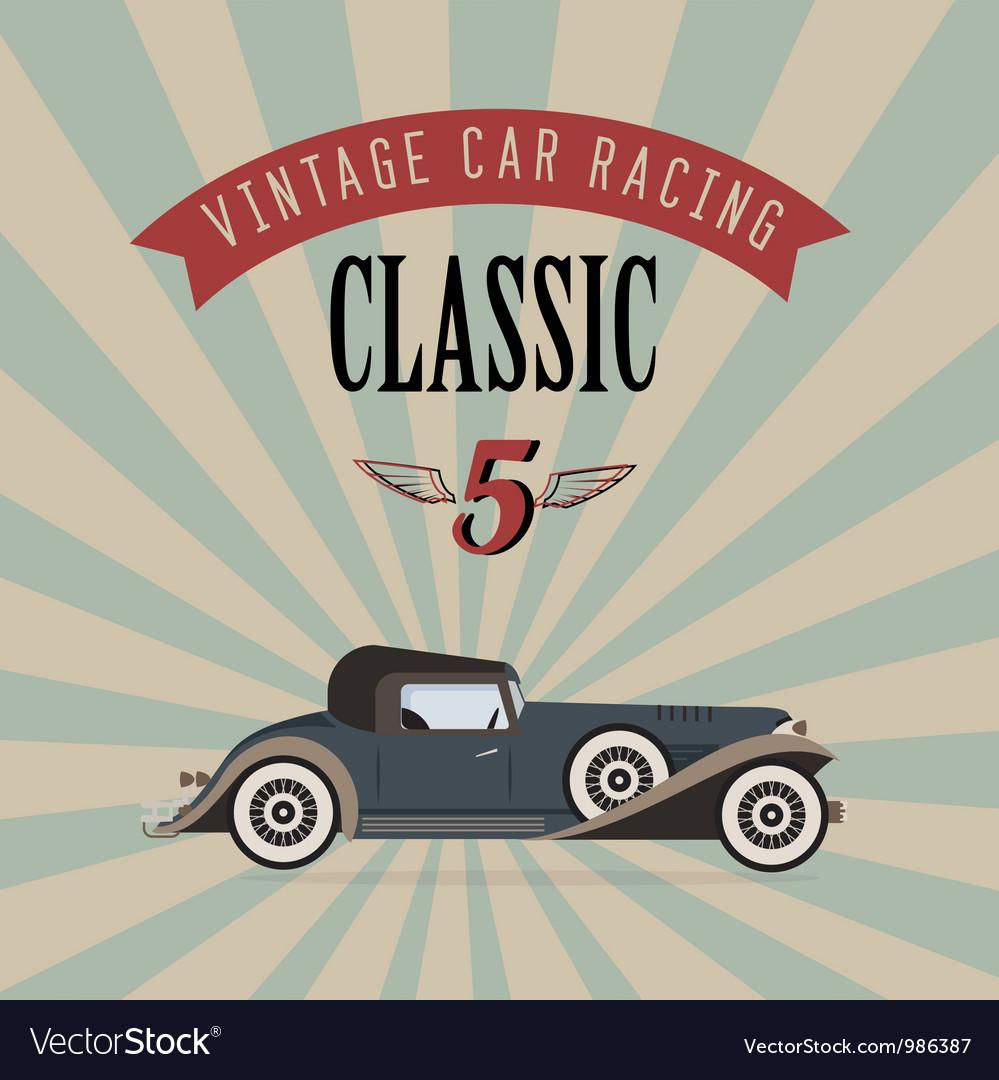 Vintage classic car vector image