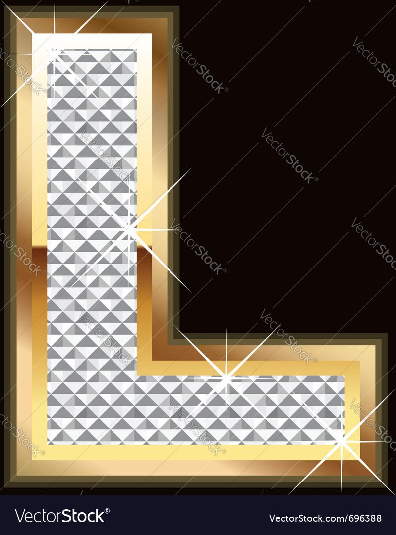L bling bling vector image