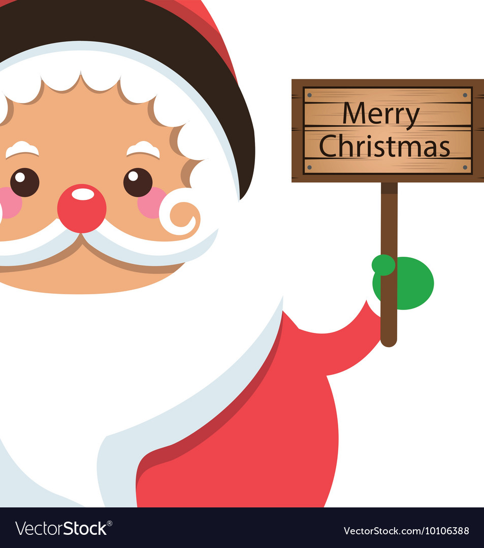 santa claus holding sign icon royalty free vector image