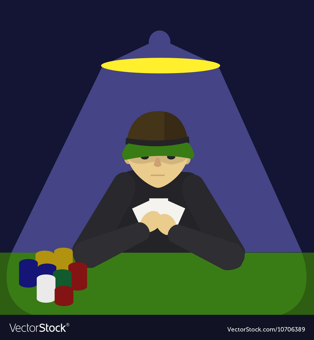 Man playing poker cartoon vector image