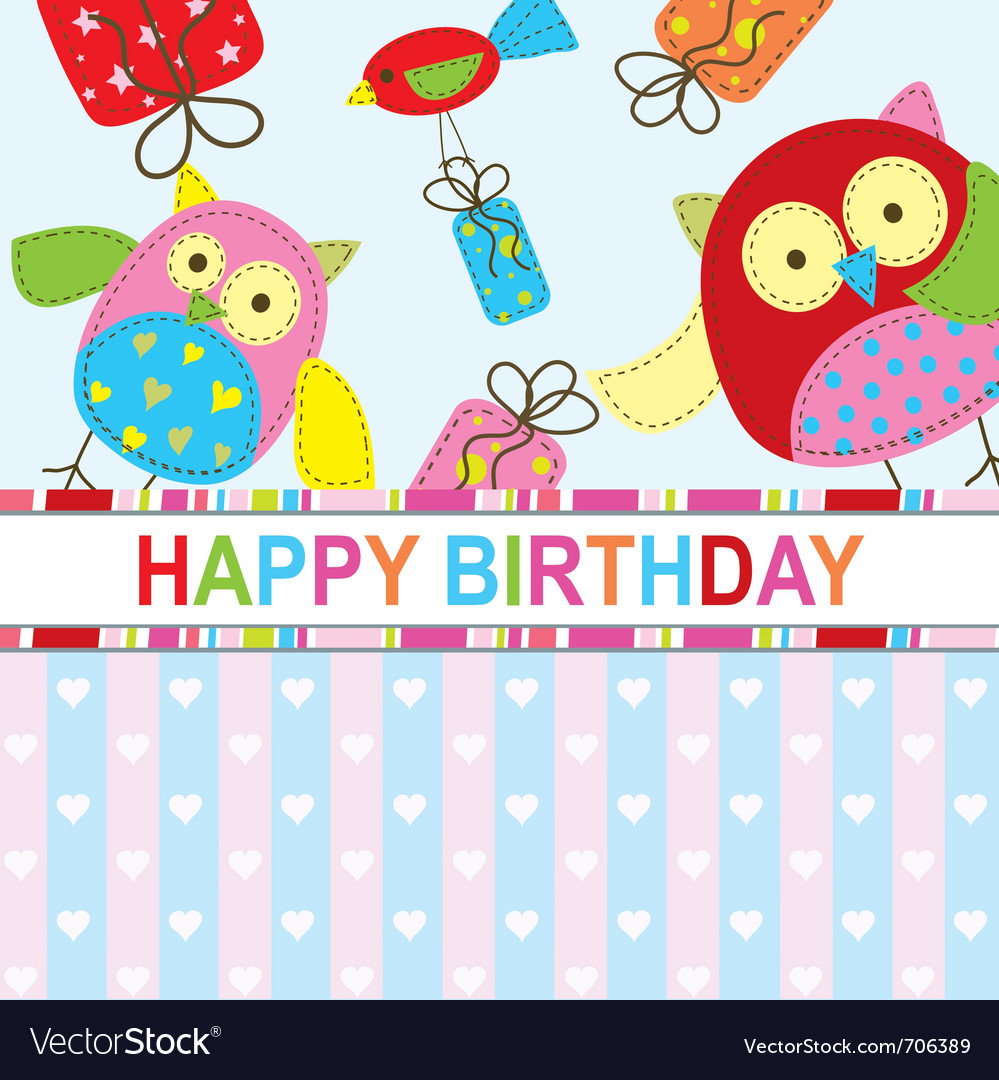 Template Birthday Greeting Card Vector Image  Free Template Birthday Card