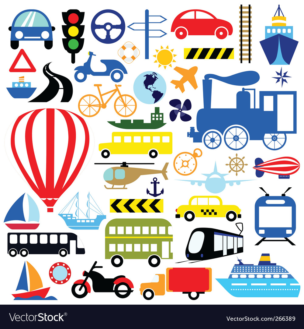 transportation icon set royalty free vector image