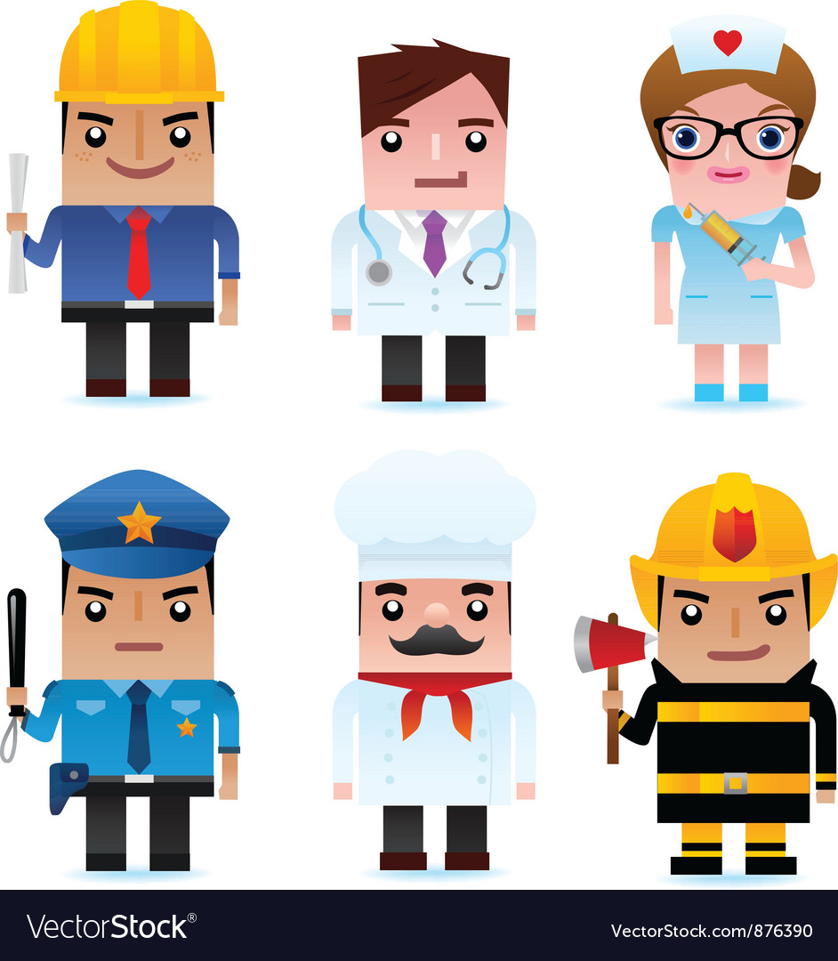 Professional occupation Icons vector image