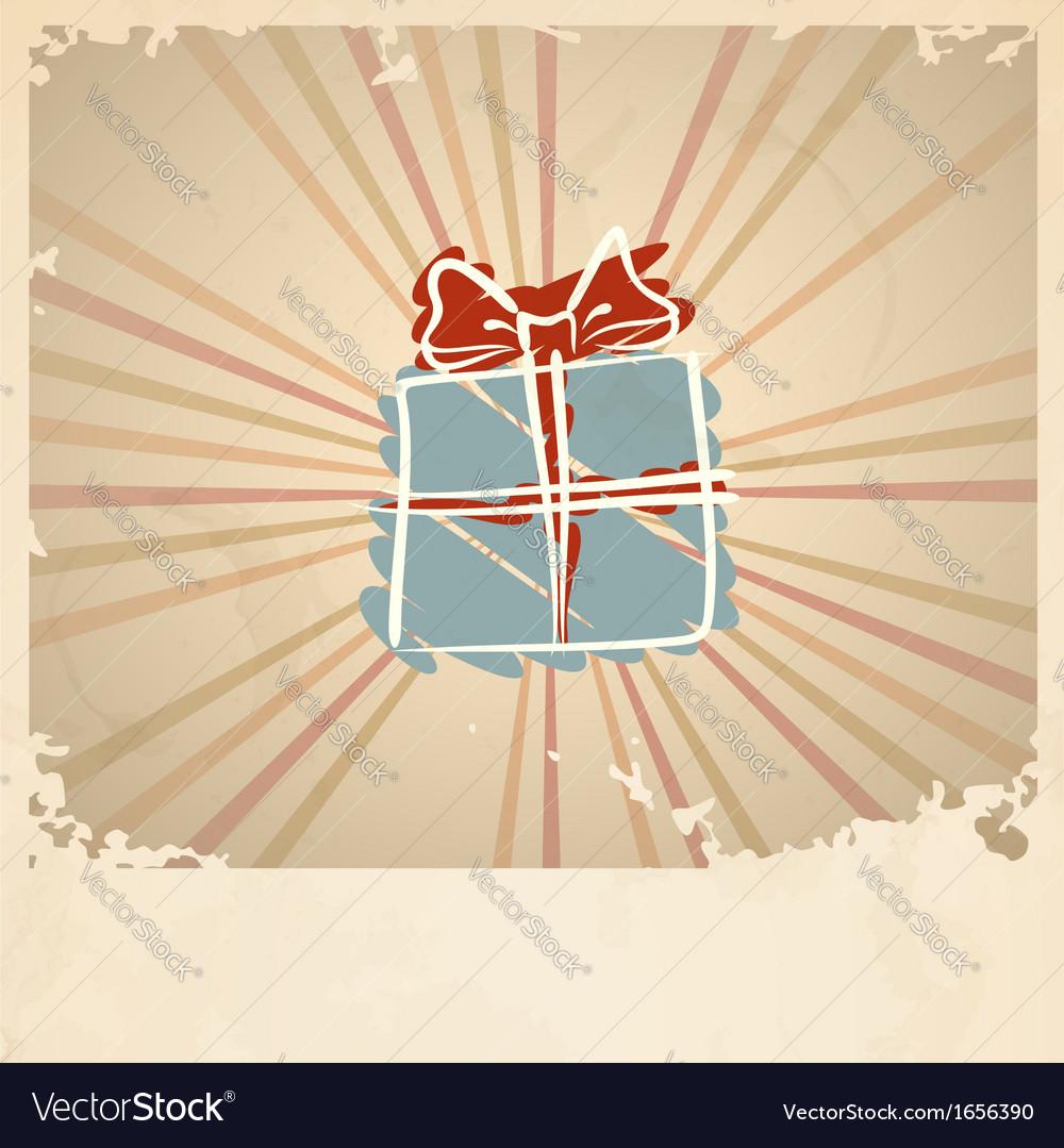 Christmas Vintage Gift Box vector image  sc 1 st  VectorStock & Christmas Vintage Gift Box Royalty Free Vector Image Aboutintivar.Com
