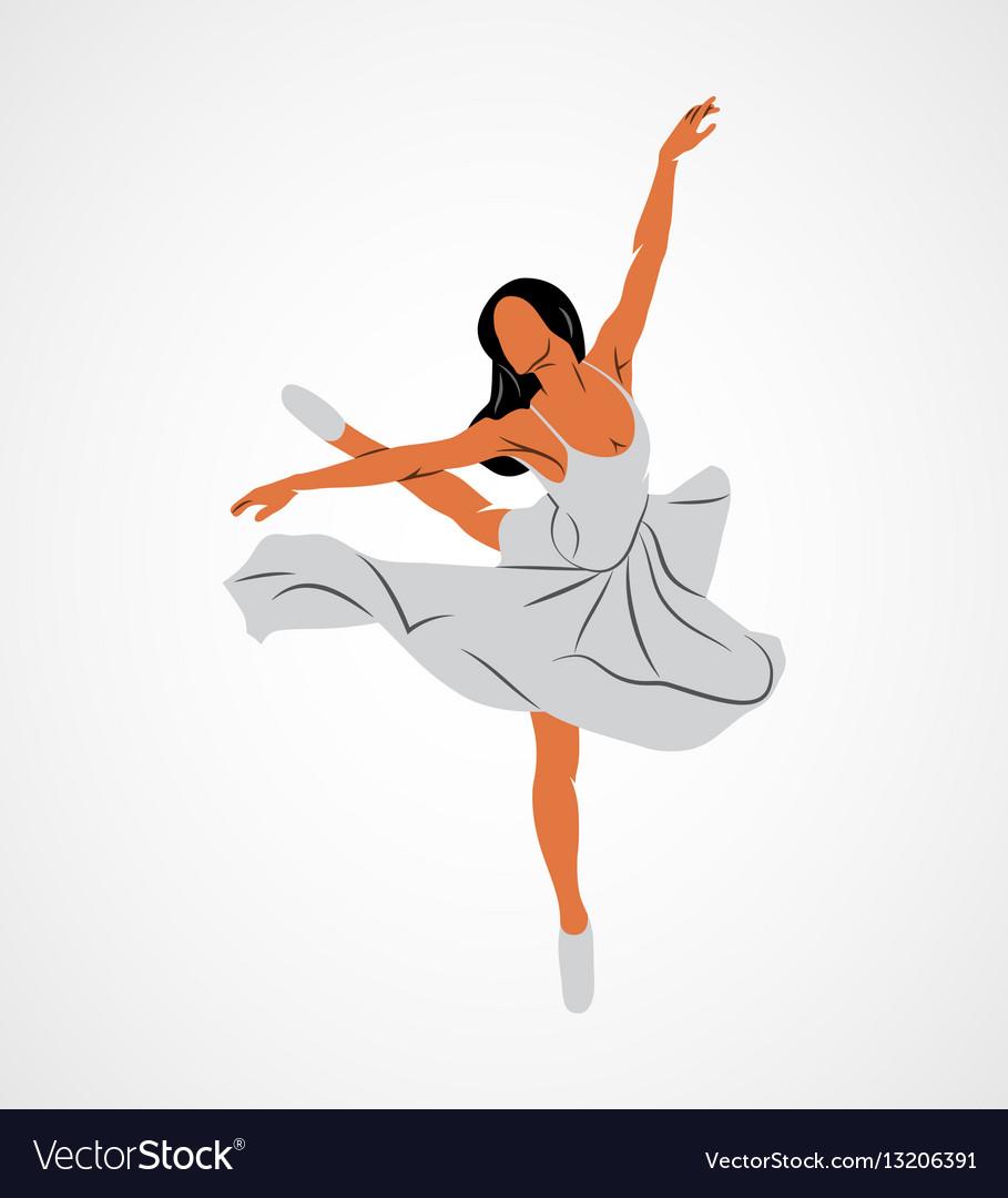 Ballerin dancer abstract vector image