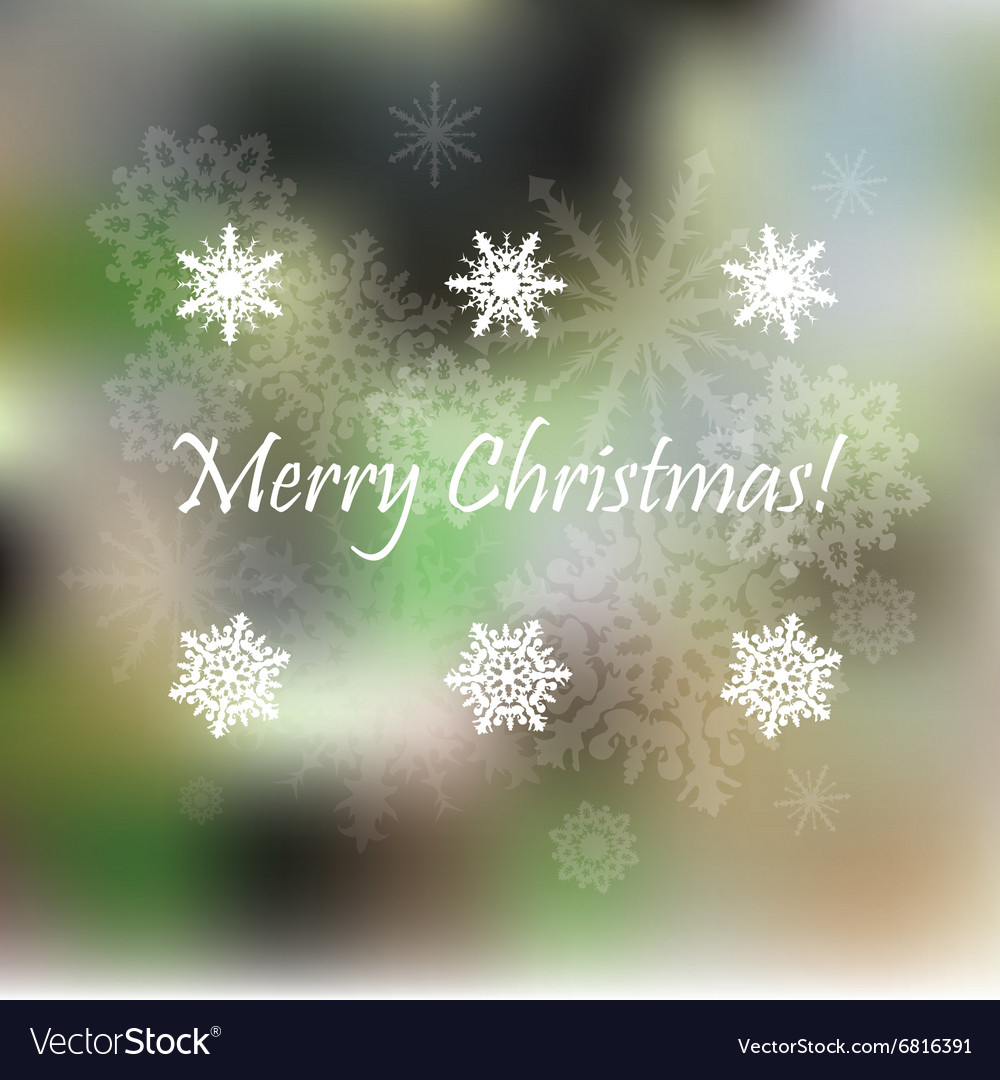 Light Christmas background with snowflakes vector image