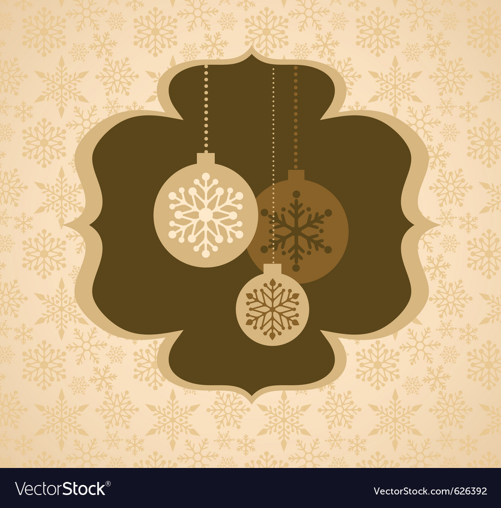 Christmas background with retro pattern vector image