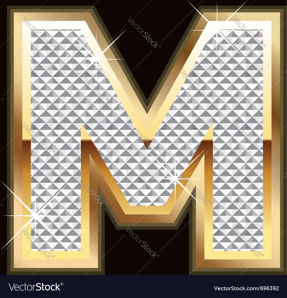 M bling bling vector image