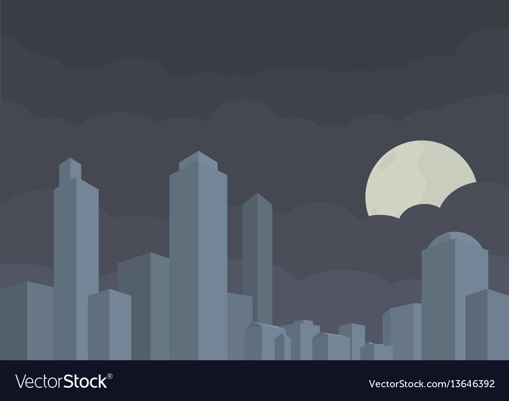 Modern city building in vector image