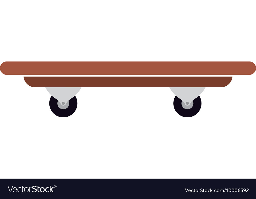 Skateboard isolated icon design vector image