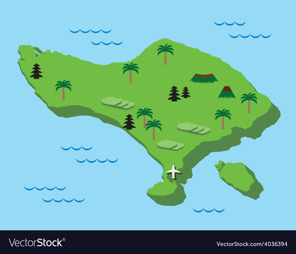 bali map flat design vector image. bali map flat design royalty free vector image