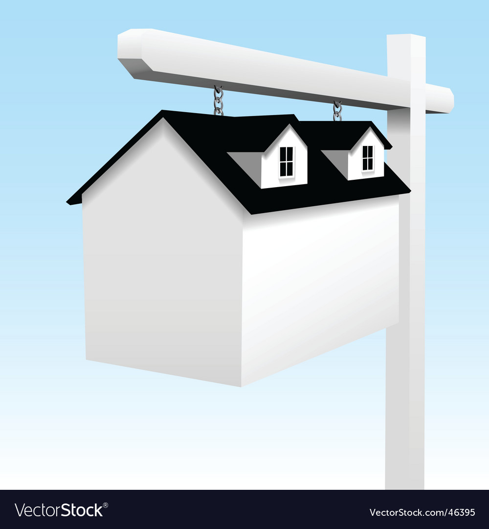 Home real estate yard sign vector image