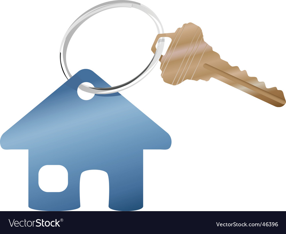 House key ring vector image