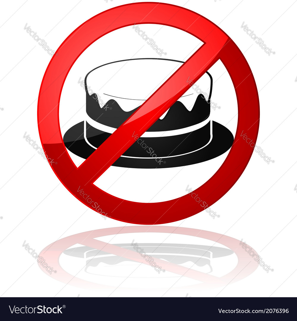 No cake allowed vector image
