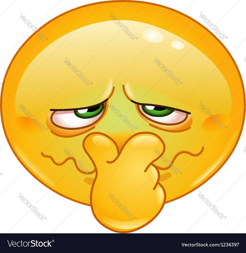 Bad smell emoticon vector image