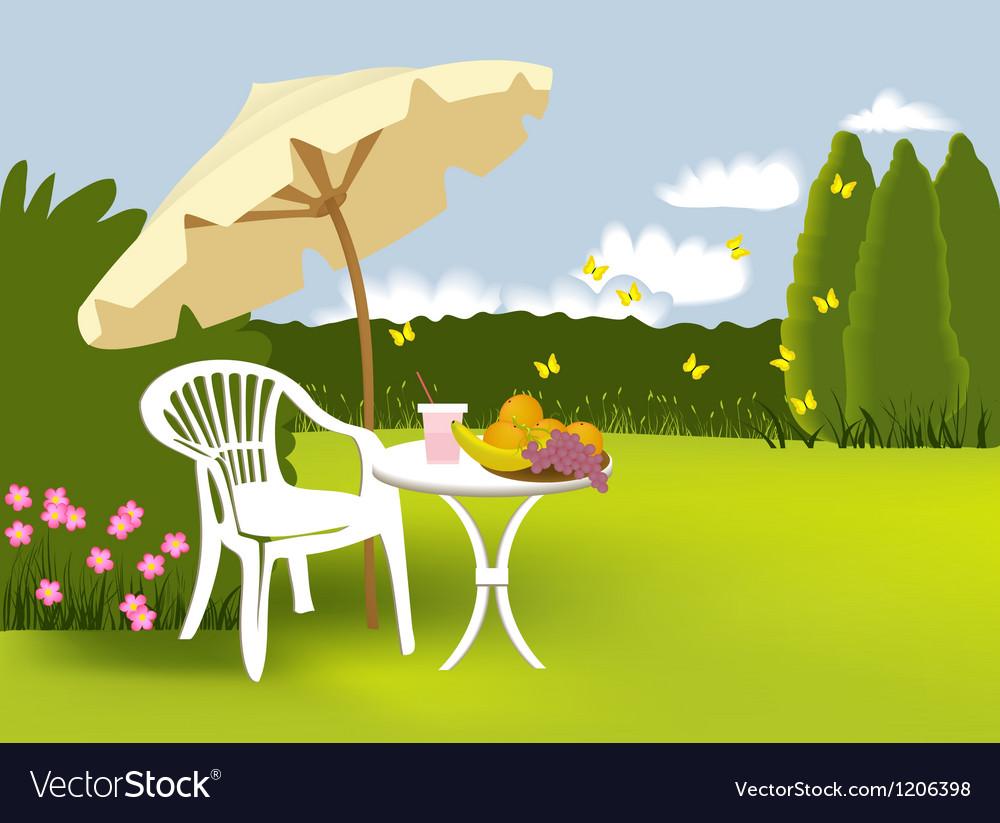 Garden relaxing vector image