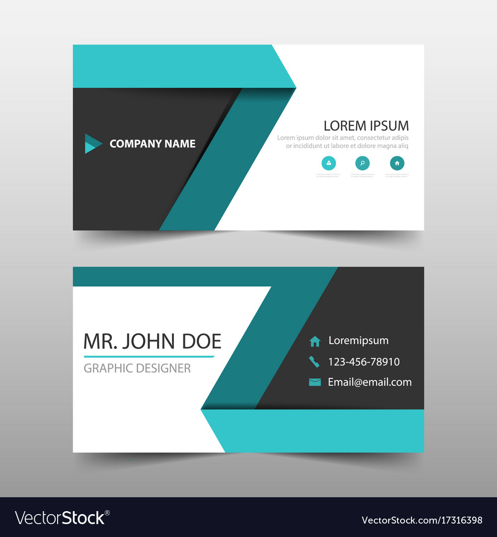 Green label corporate business card name card Vector Image