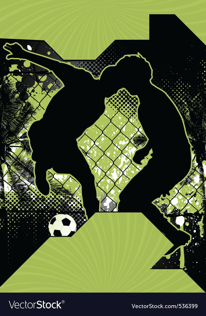 Soccer grunge poster vector image