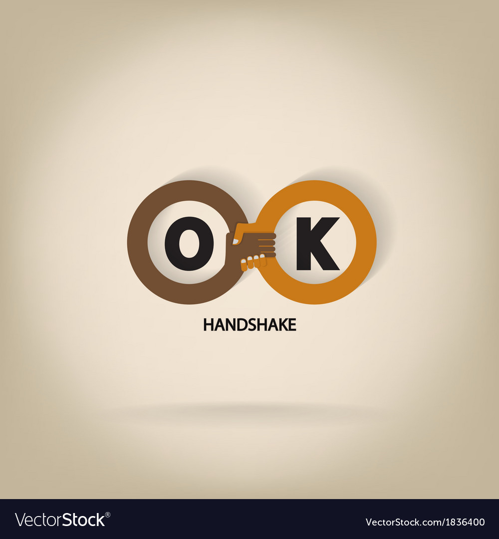 Handshake abstract symbol vector image