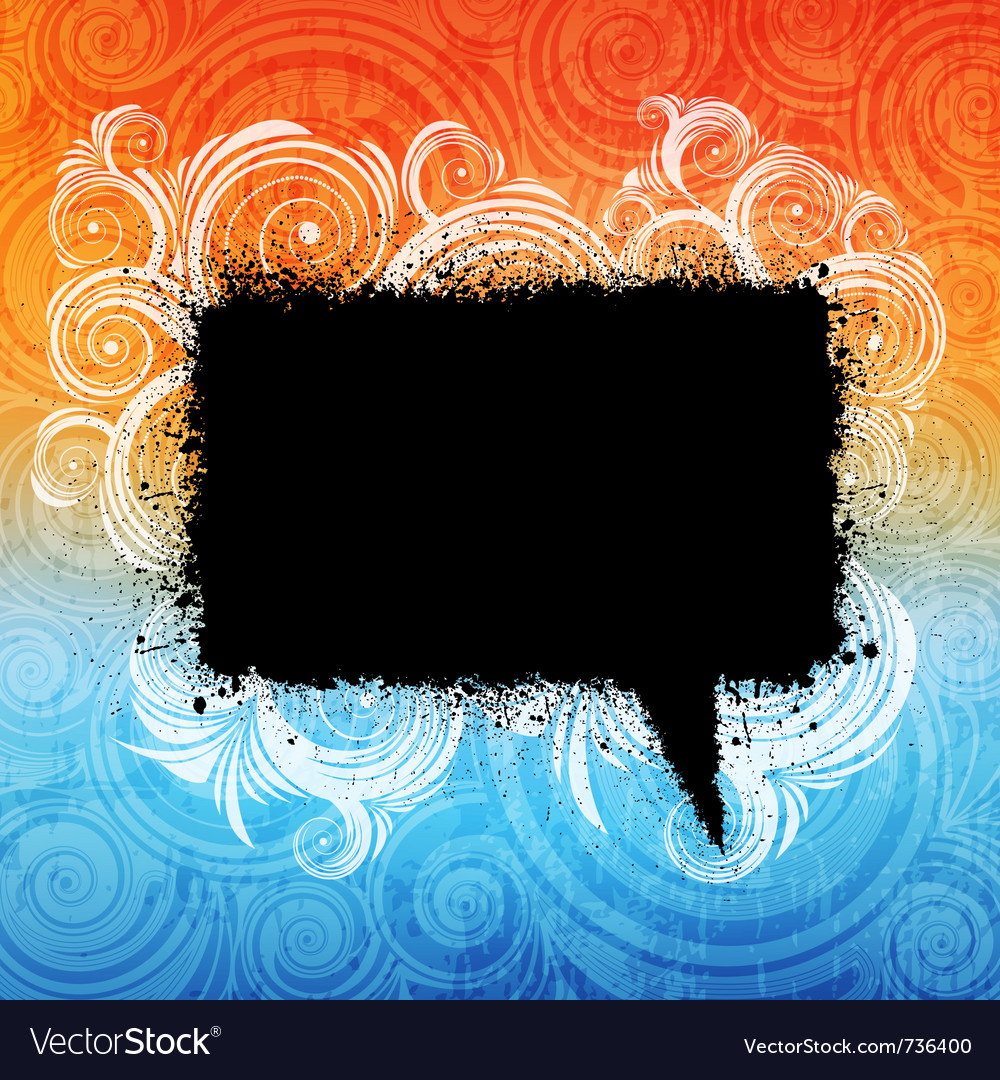 Grungy speech bubble vector image