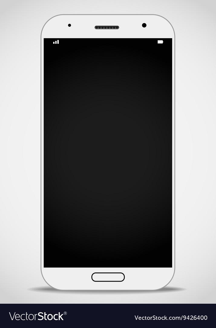 Modern smartphone mockup layout vector image