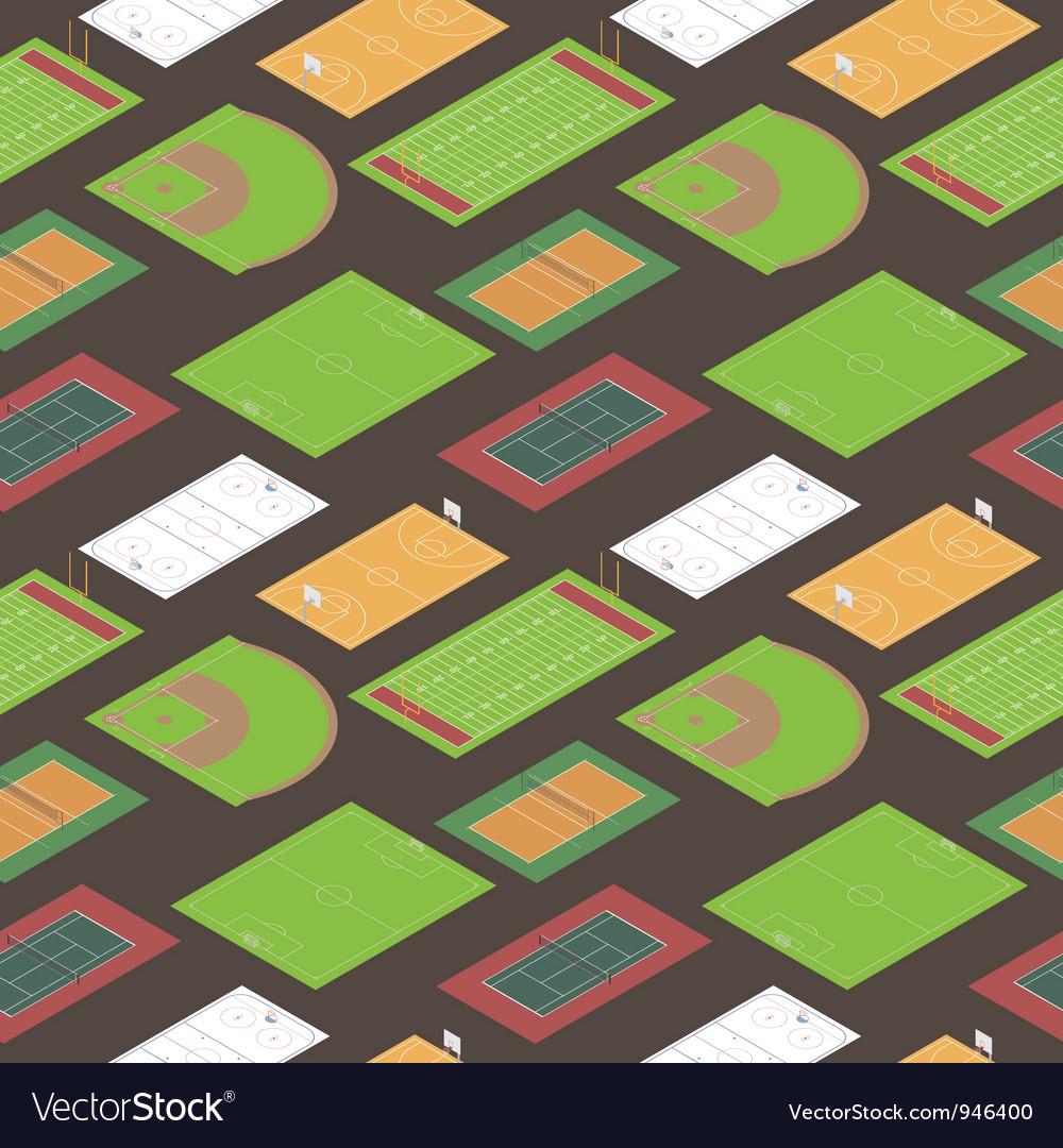 Sport fields seamless pattern vector image
