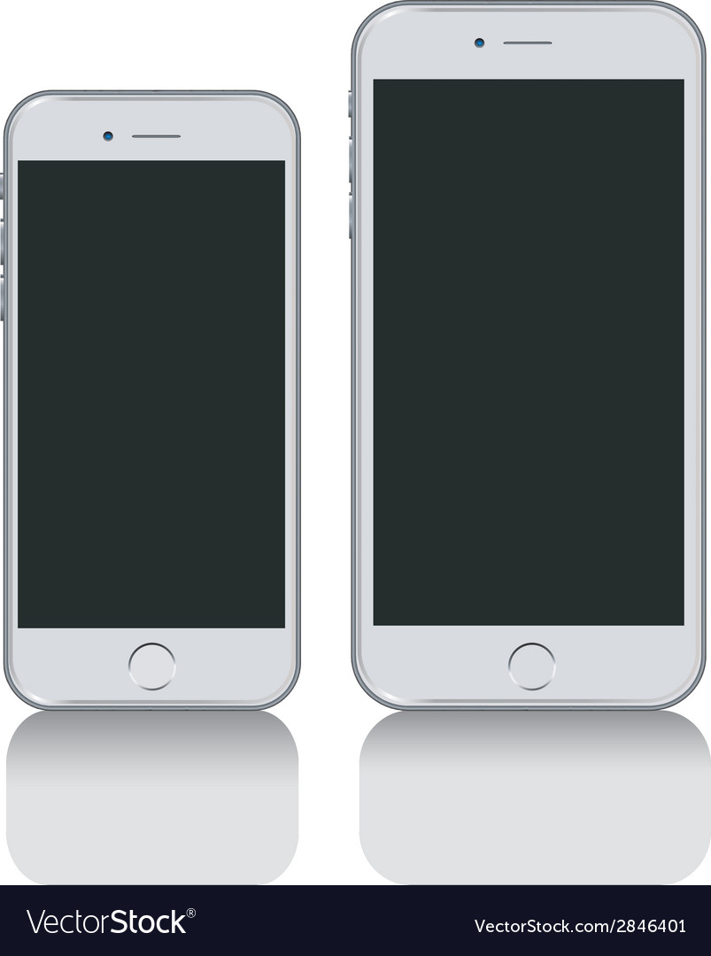 IPhone and iPhone plus vector image