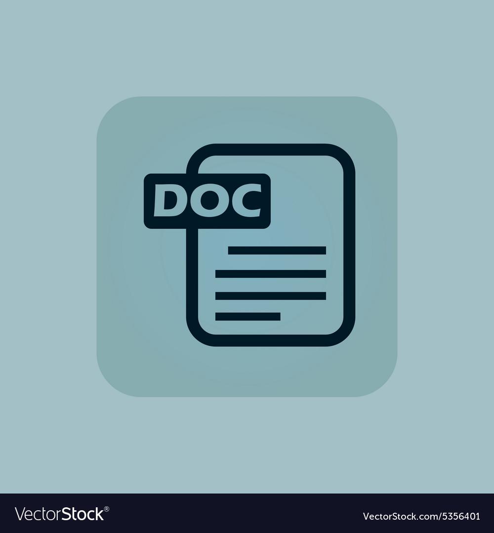 Pale blue DOC file icon vector image