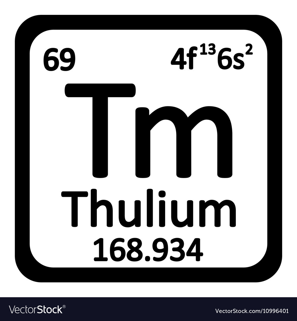 Periodic table element thulium icon royalty free vector periodic table element thulium icon vector image gamestrikefo Gallery