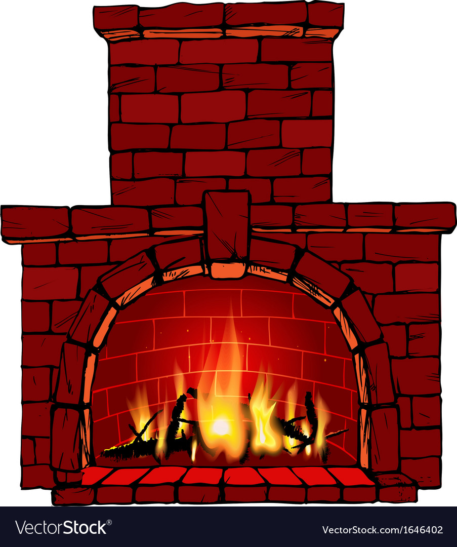 christmas fireplace royalty free vector image vectorstock