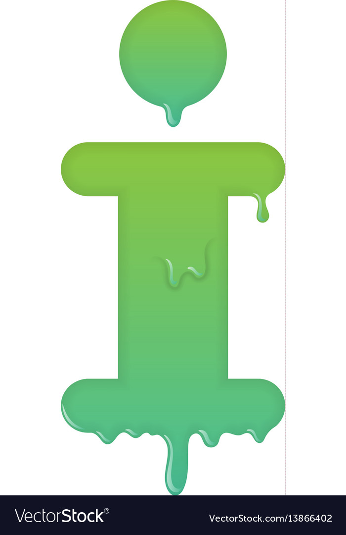 Melting info icon support and help desk vector image