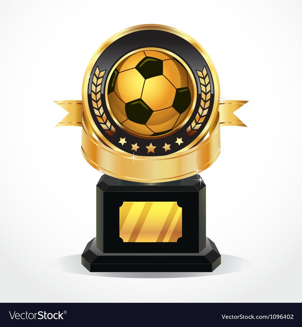 Soccer Golden Award Medals vector image