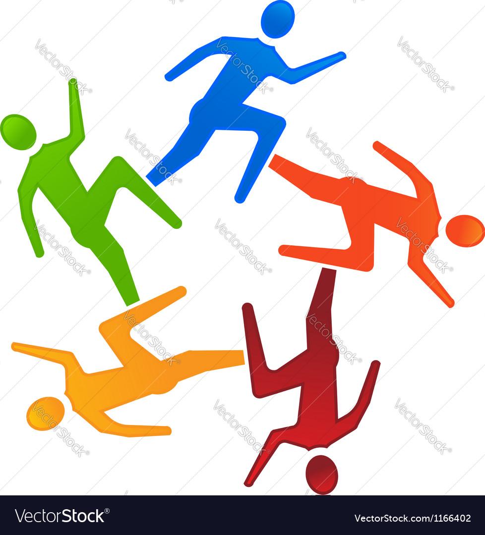 Team Runners 5 vector image