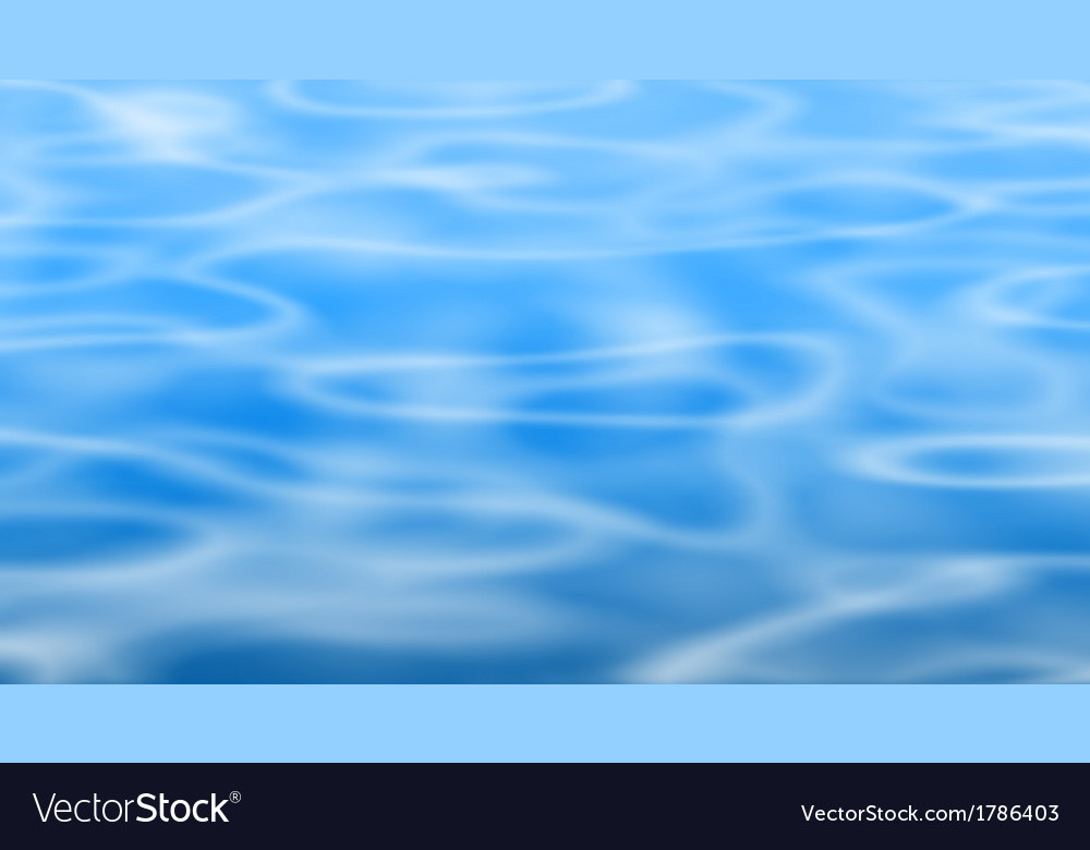 Blue pool vector image